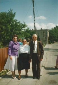 Zofia Listosz with her parents few years ago