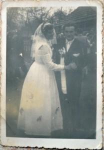 Józef i Maria w dniu swojego ślubu.