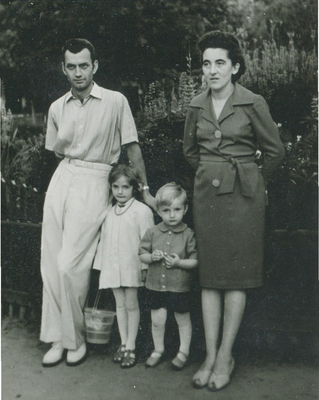 Stepan Horechyi and Zynoviia Horecha with their children. Zhydachiv. The 1st half of the 1960s.