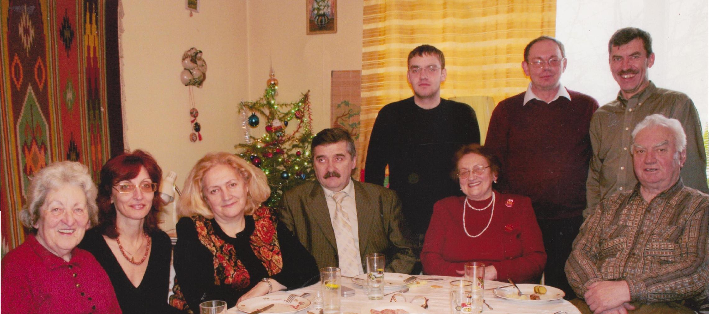 Stepan Horechyi with his family. Lviv, 2000s.