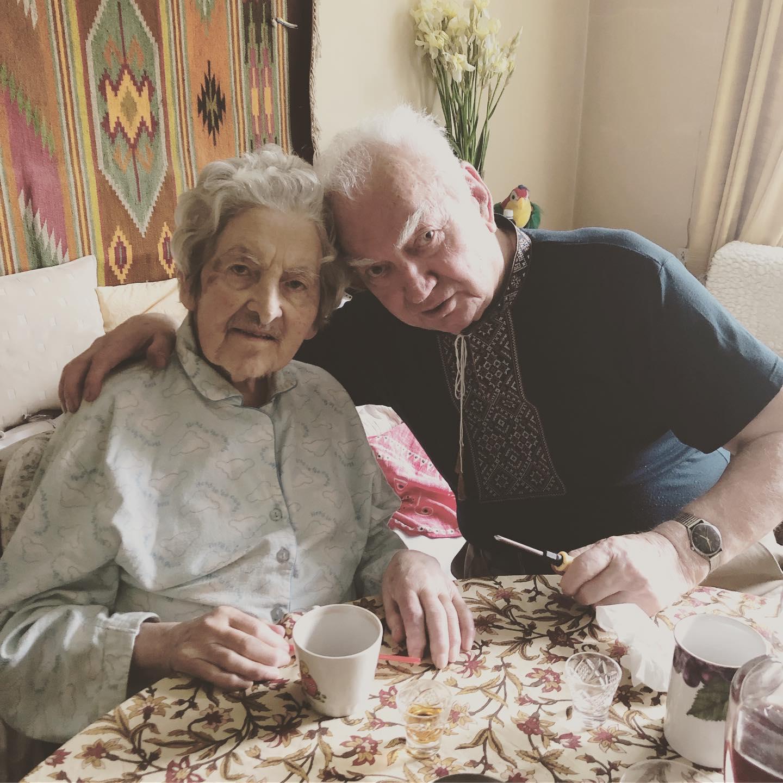 Stepan Horechyi and his wife. Lviv, 2019.